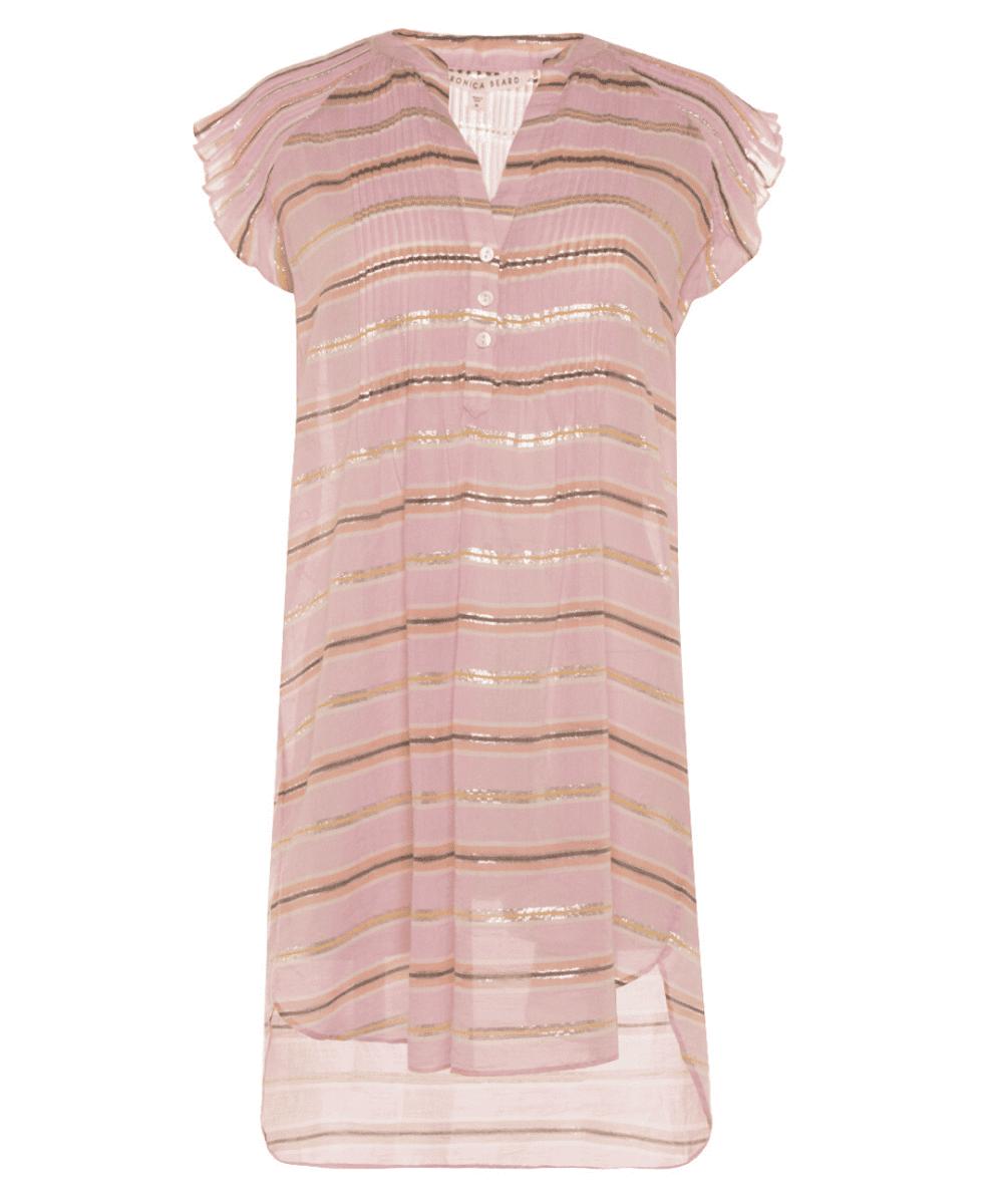 Veronica Beard Orchid Pink Stripe Marieta Dress Cover Up