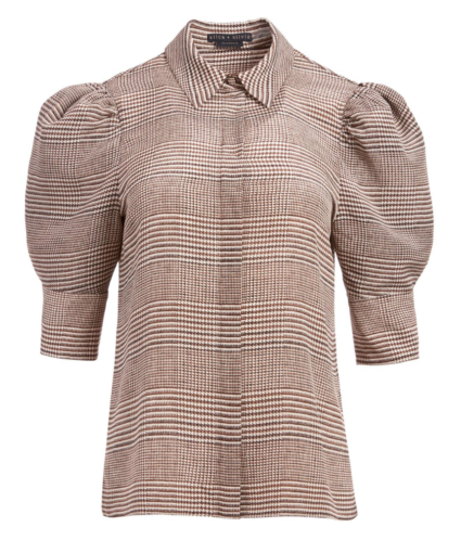 Willa Top Afterglow Plaid Alice & Olivia