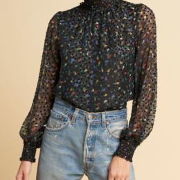 daisy blouse black multi warm