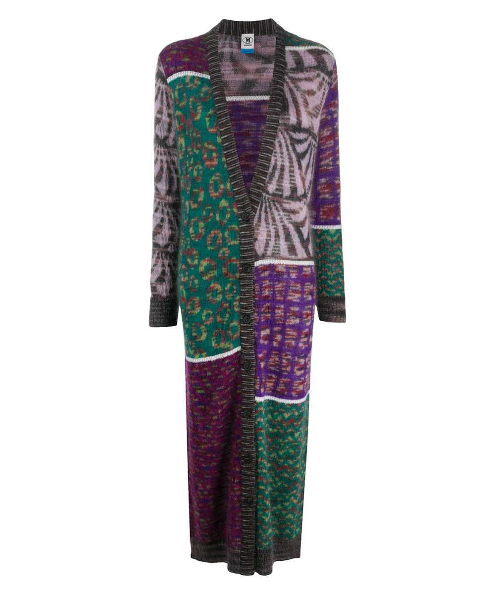 patchwork duster teal purple multi m missoni