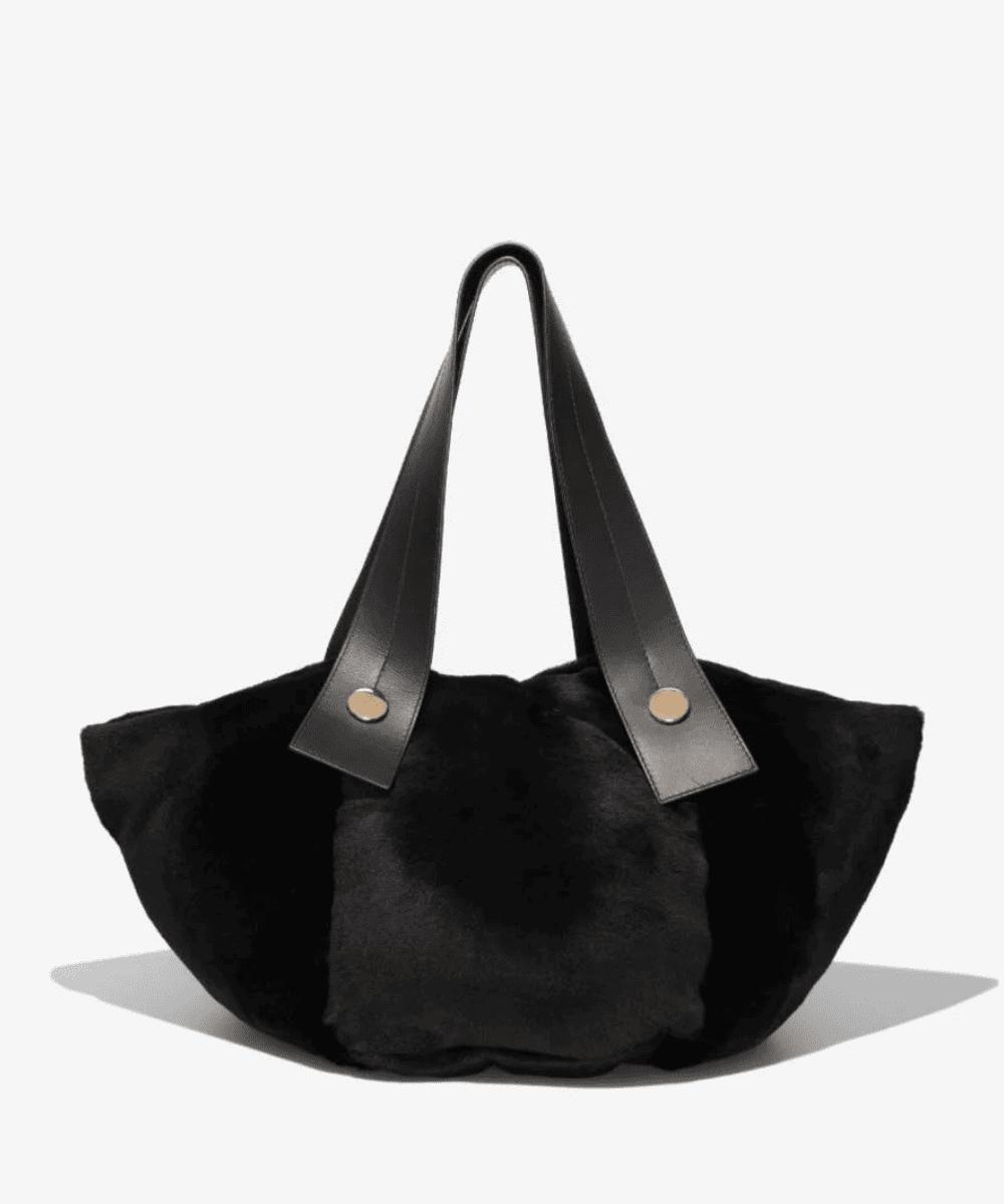 tobo tote bag black shearling proenza schouler