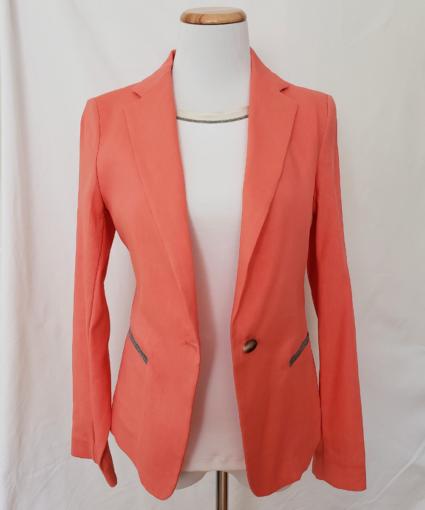 Fabiana Filippi Coral Cotton Linen Jacket Blazer