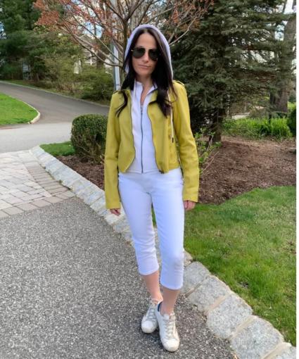 Jakett Peridot Yellow Green Molly Leather Jacket Outerwear
