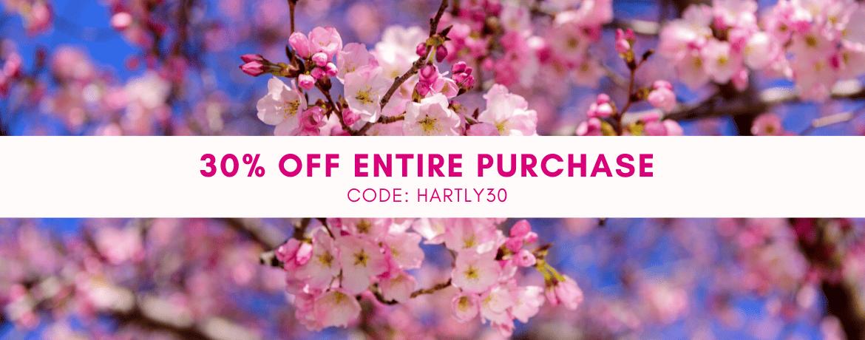 Hartly 30% Off Spring Banner