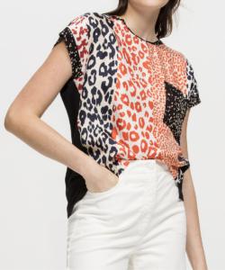 Silk Leopard T-Shirt Animal Multi