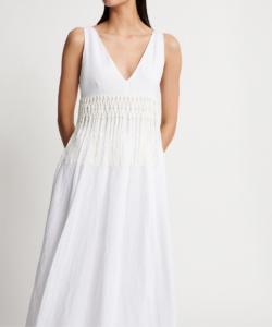 fabiana filippi linen maxi dress