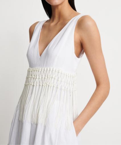 fabiana filippi linen maxi dress side