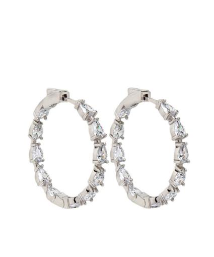 nickho rey gil hoop earring silver