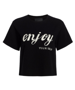 enjoy yourself sweater black le superbe