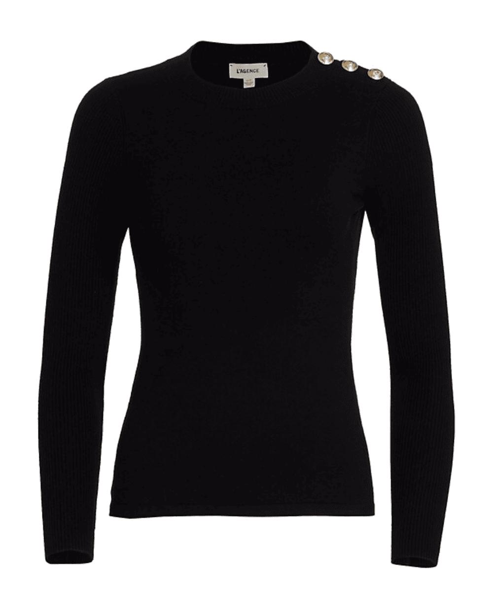 erica sweater black l'agence
