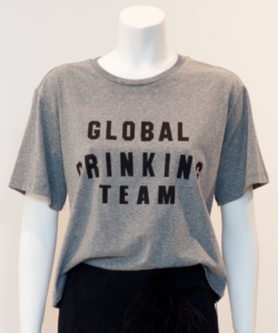 global drinking team tee heather grey le superbe