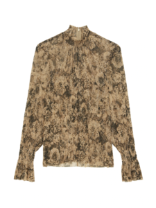 paola floral blouse taupe black l'agence