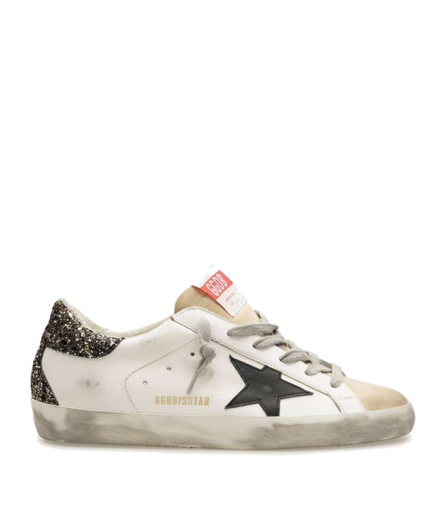 superstar sneaker white black gold golden goose