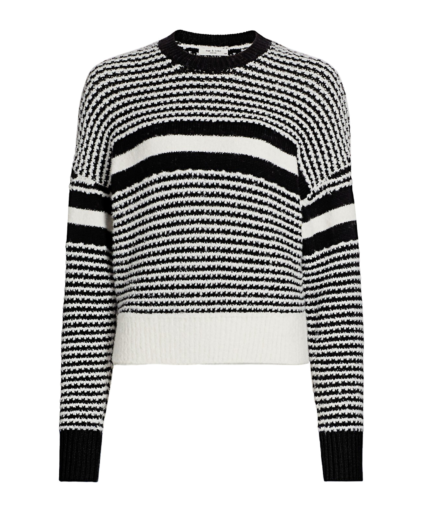 teddy stripe sweater blak white rag & bone