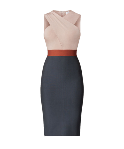 Cross Neck Dress Herve Leger