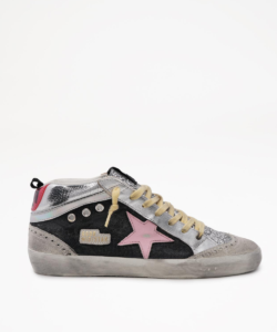 Golden Goose Mid Star Yellow Laces Flat Lay