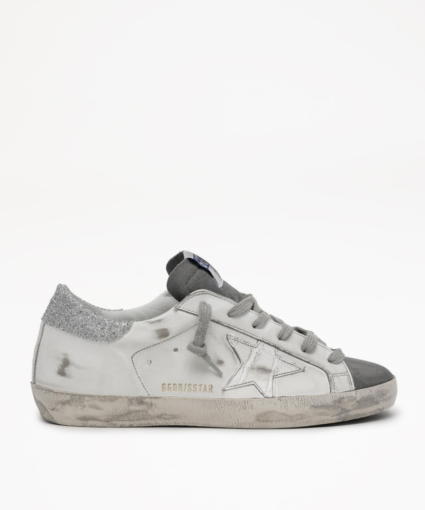 Golden Goose Superstar Swarovski Crystal White Grey