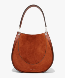 Large Leather & Suede Hobo Bag Chocolate Proenza Schouler