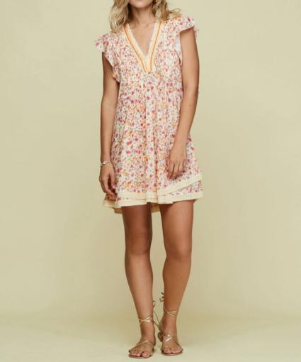 Mini dress Sasha laced trimmed Cream Fruity Viscose