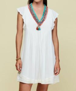 New Sasha Dress White Poupette St. Barth