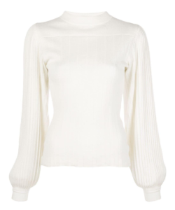 Pleated Puff Sleeve Sweater Proenza Schouler