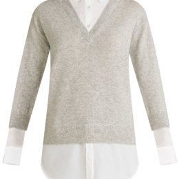 brami sweater melange grey white veronica beard