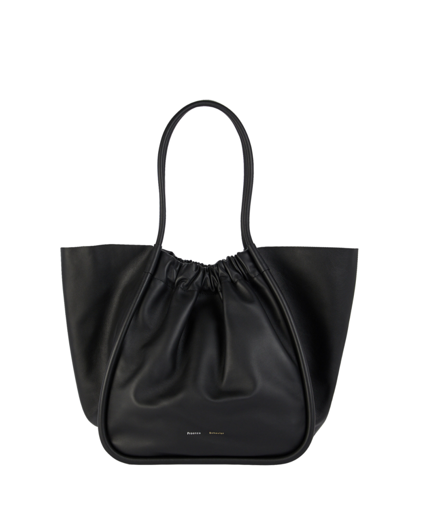 large ruched tote black leather proenza schouler