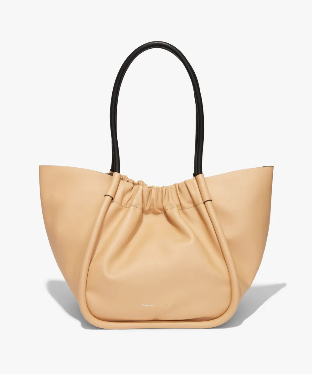 large ruched tote sand flat proenza schouler