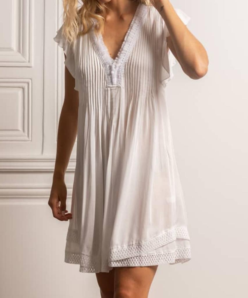 mini dress sasha white poupette st barth