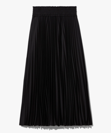pleated skirt black proenza schouler