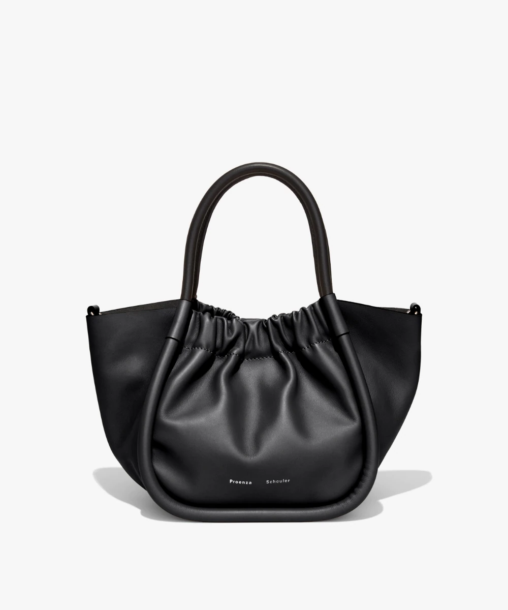 small ruched tote bag black proenza schouler