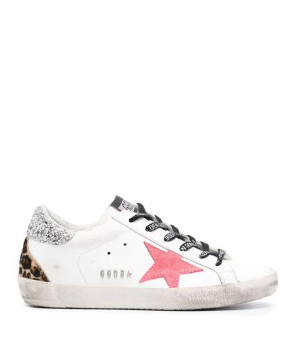 superstar sneaker silver leopard pink golden goose