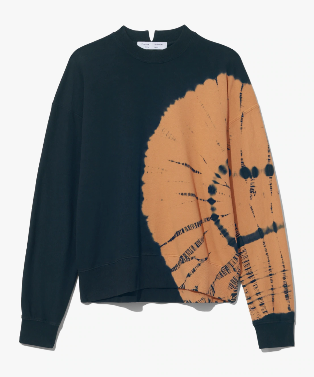 tie dye sweatshirt black toast Proenza Schouler