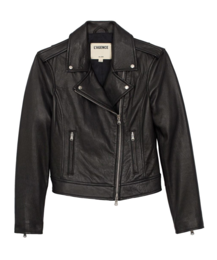 Biker Leather Jacket Black L'Agence