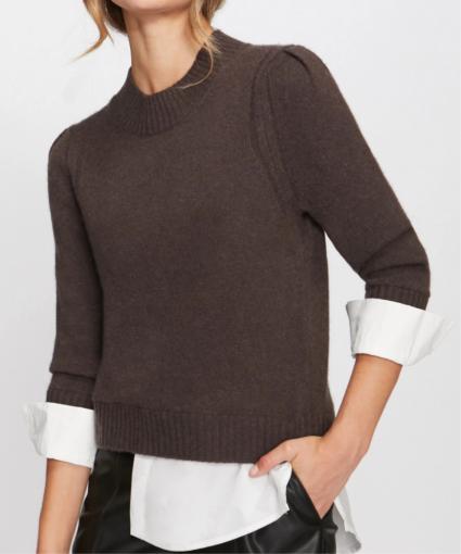 eton sweater brown white brochu walker