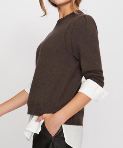 eton sweater brown white brochu walker side