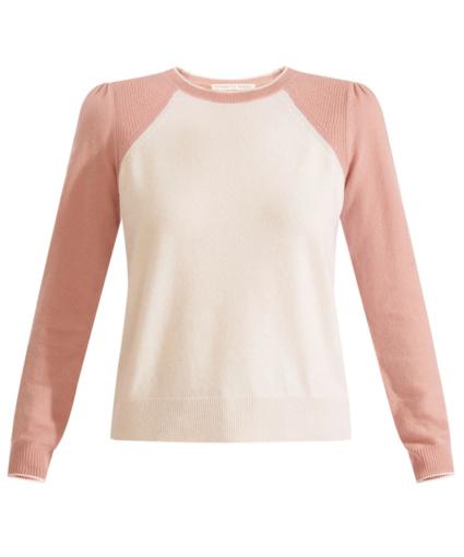 Albertina Sweater White Pink Veronica Beard