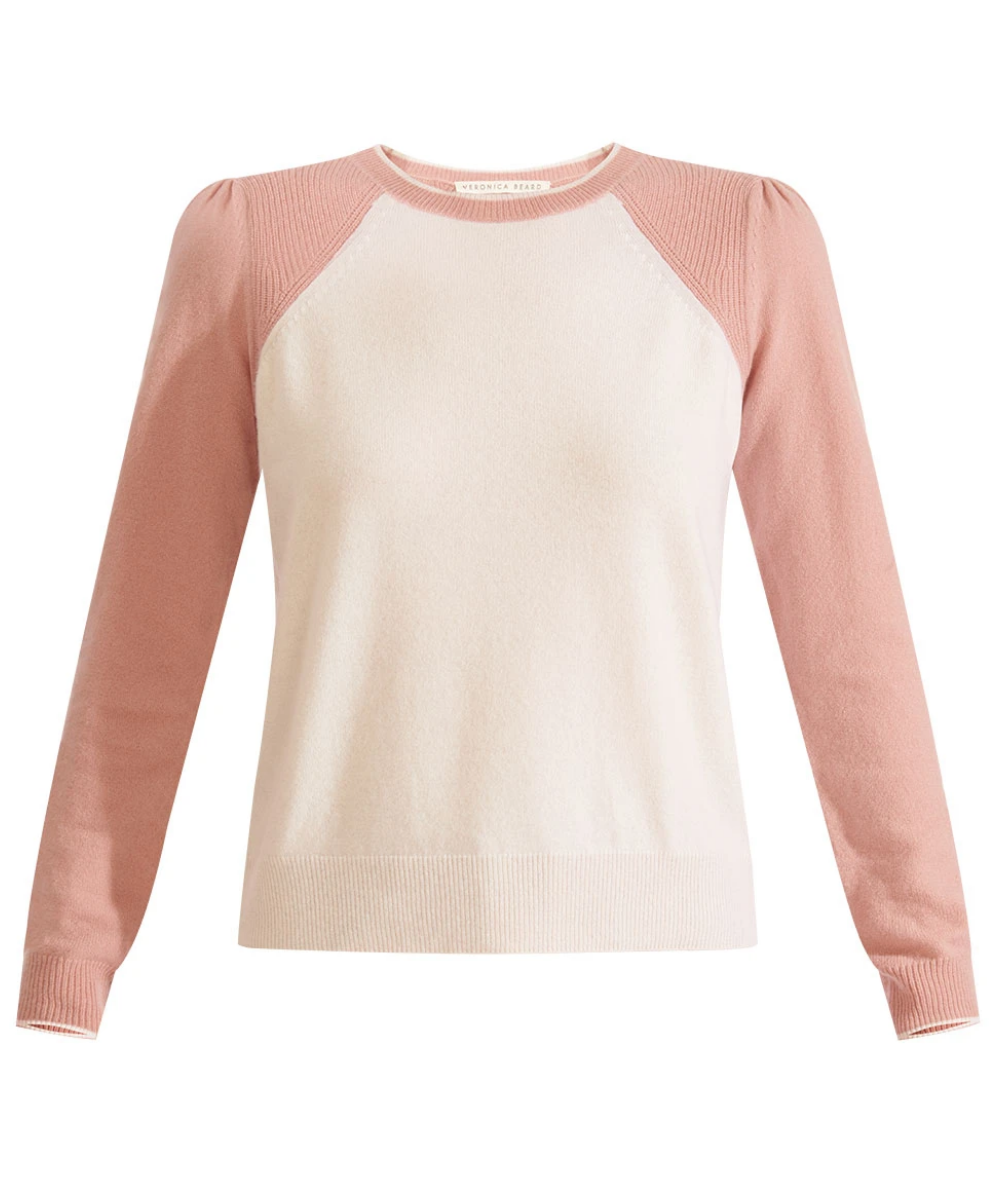 Albertina Sweater White Pink Veronica Beard