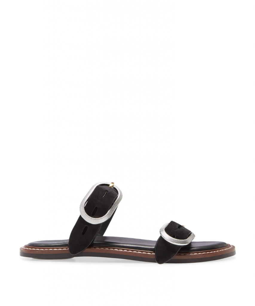 Ansley Slide Black Suede Rag & Bone