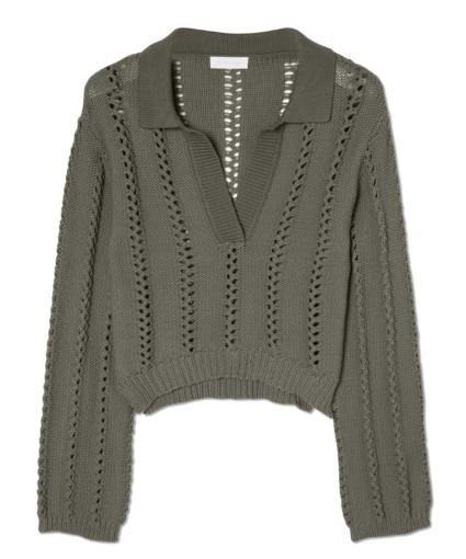 Berenice Sweater Eucalyptus Jonathan Simkhai