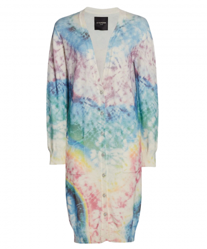 The Eclipse Cardigan Tie Dye For Le Superbe