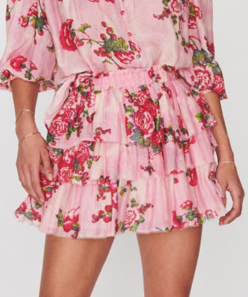 brynlee skirt pink desert loveshackfancy