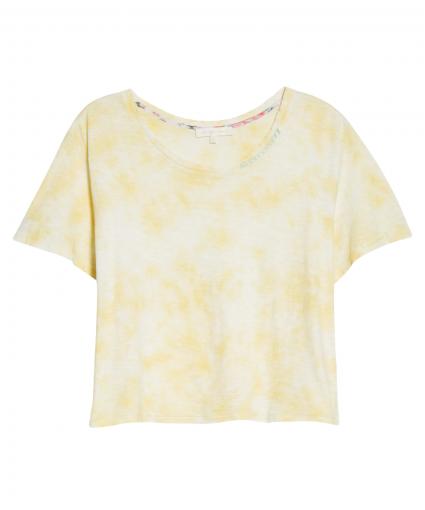 calix tee lemon yellow hand dye loveshackfancy