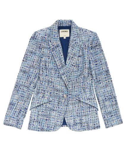 chamberlain blazer blue combo ruk tweed l'agence