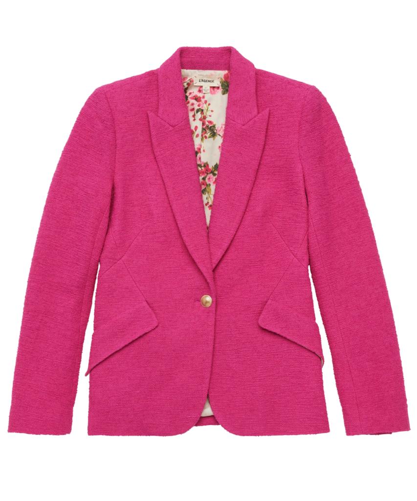 chamberlain tweed blazer rose violet l'agence