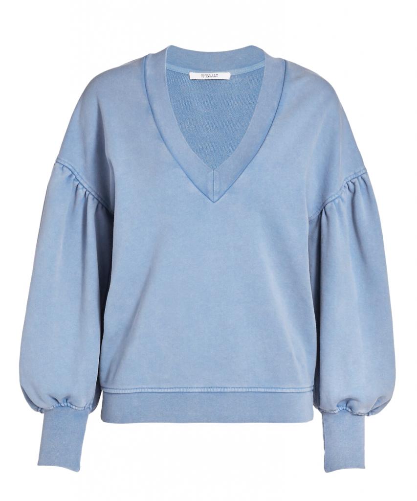 edie v-neck sweatshirt deep blue derek lam 10 crosby