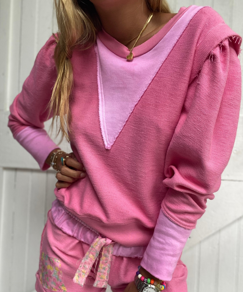 grier pullover party pink hand dye loveshackfancy
