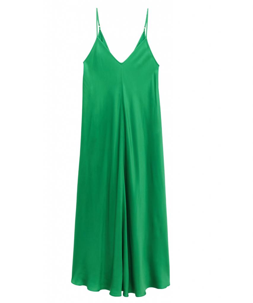 lorraine dress amazon green l'agence