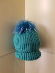 Pom Pom Hat Aqua