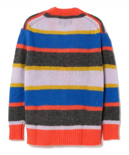 90s oversized knit cardigan multi stripe back redone